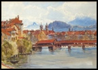 Lucerne with Kapell-Brucke over the Reuss
