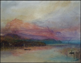 swiss mountain paintings for sale Turner Red Rigi