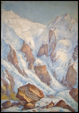 mountain painting art Nanga Parbat